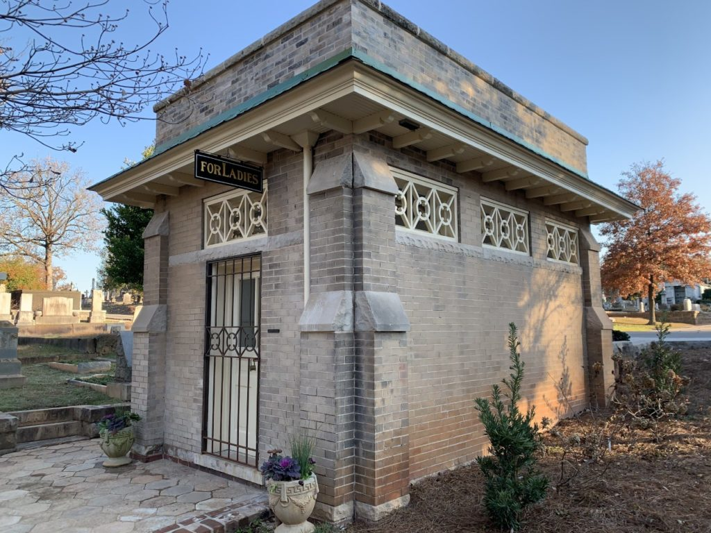 Women's Comfort Station at Oakland Cemetery