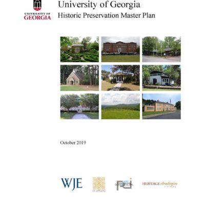 University of Georgia Historic Preservation Master Plan