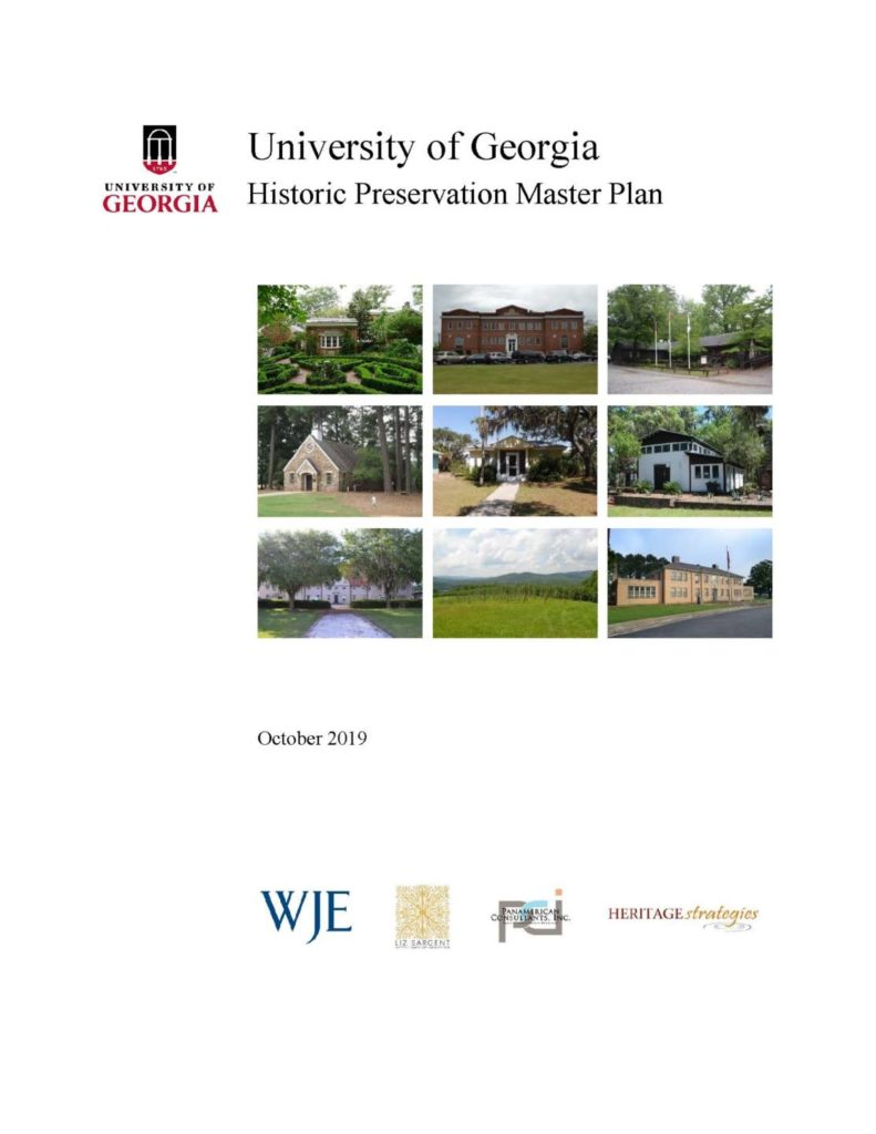 University of Georgia Historic Preservation Master Plan